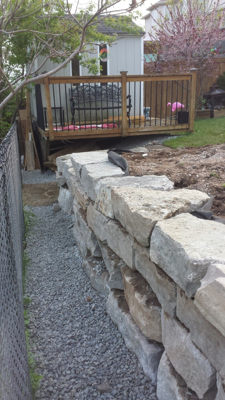backyard retaining wall solid concrete solutions