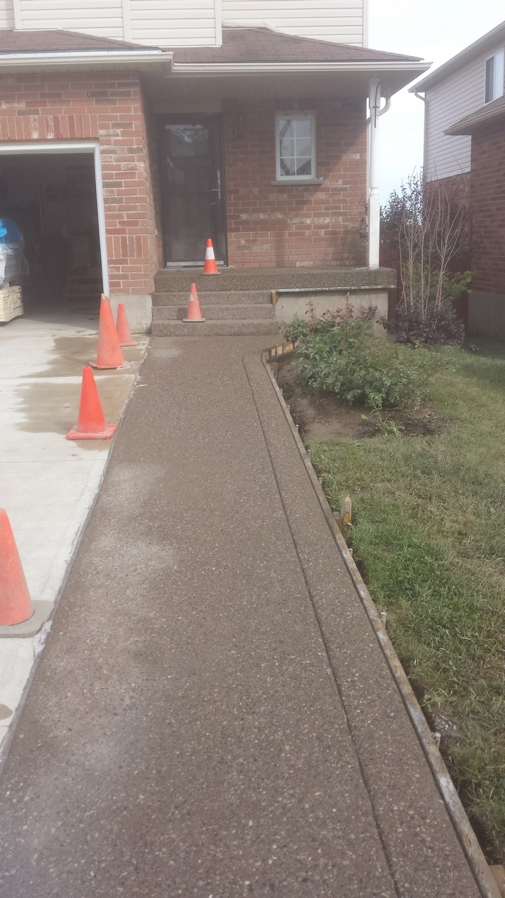 Exposed Front Walkway Solid Concrete Solutions