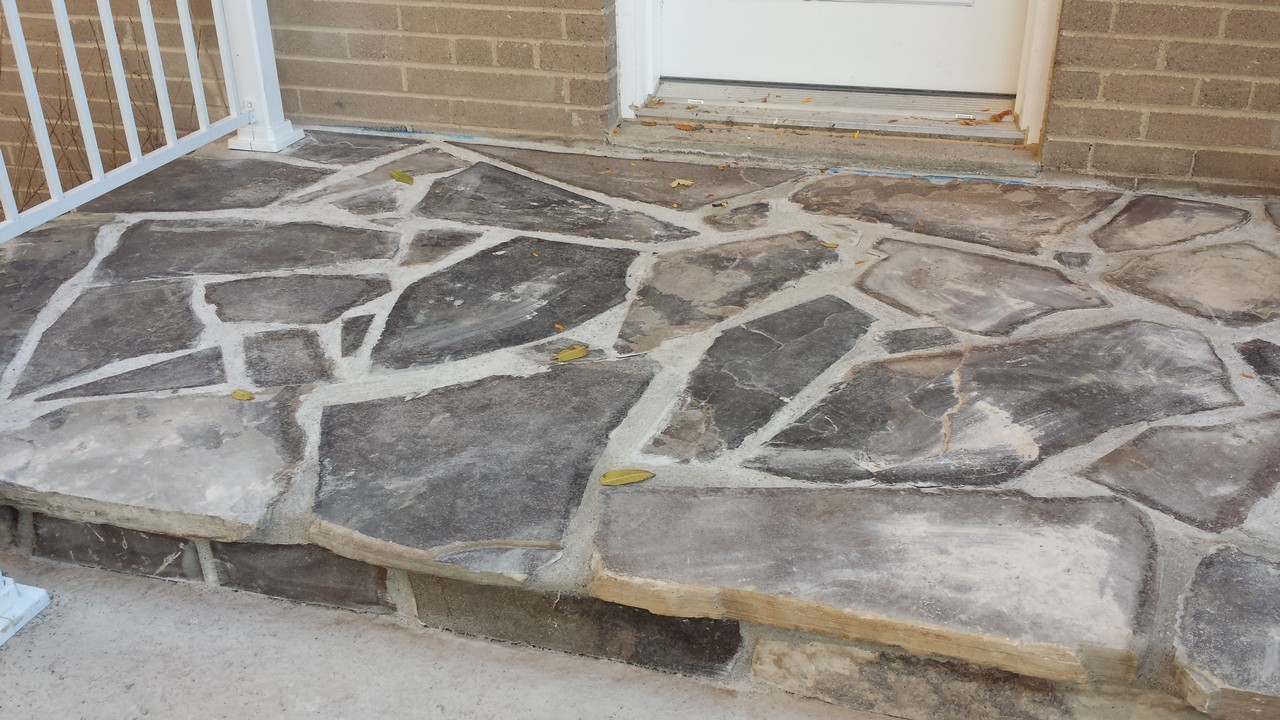 Flagstone Front Step | Solid Concrete Solutions